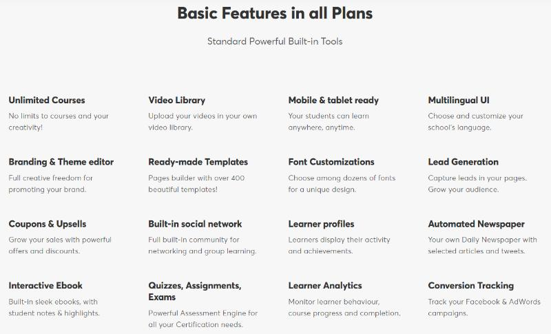 learnworlds features online learning platforms
